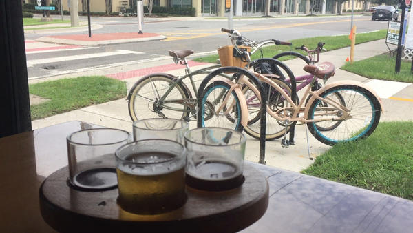 Tour local breweries by bike